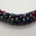 Kumihimo Bead  Bracelet Heart Button Pink Turquoise Purple