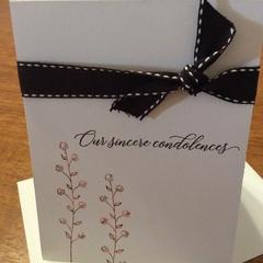Sympathy card. Simple but elegant.