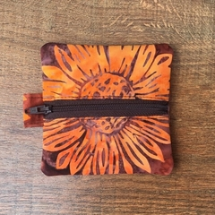 Gold Sunflower Batik Purse