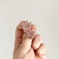 Statement Flower Stud Earrings in Champagne Glitter