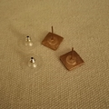 Square Lace Stud Earring