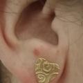 Swirling Heart Stud Earring