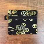 Black/Gold Batik Purse