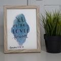 Watercolour Bible Verse FREE POSTAGE Romans 8:38-39