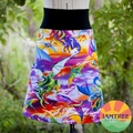 Ladies Dragon Skirt - Aline with stretchy waistband