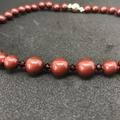 Bordeaux Pearl Choker Necklace