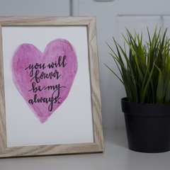 Watercolour Love Sign FREE POSTAGE