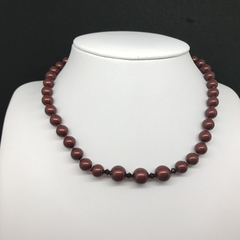 Bordeaux Pearl Choker Necklace