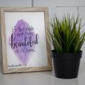 Framed Watercolour Verse FREE POSTAGE Ecclesiastes 3:11