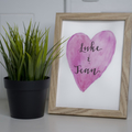 Custom Watercolour Love Sign FREE POSTAGE