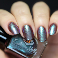 """Nail polish - """"Opposite Order"""" A brown base with turquoise blue to purple shift"""