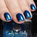 "Nail polish - ""Midnight Mermaid"" A dark blue with green shimmer and blue iridesc"