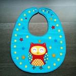Waterproof Owl Baby Adjustable Dribble Bib