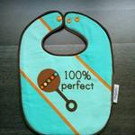 Waterproof '100% perfect' Boy Baby Adjustable Dribble Bib small