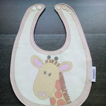 Waterproof Giraffe Baby Adjustable Dribble Bib small
