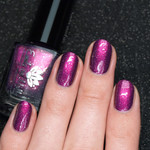 """Nail polish - """"Leave It To Me"""" A purple base with a pink to copper shimmer"""