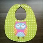 Waterproof Baby dribble bib owl adjustable