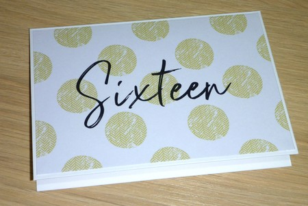 Age birthday card - Sixteen or any age