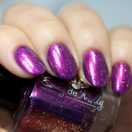 "Nail polish - ""Leave It To Me"" A purple base with a pink to copper shimmer"