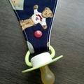 Waterproof Teddy Dribble dummy/teether Bib