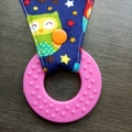 Waterproof Dribble Owl dummy/teether Bib