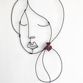 Red Heart Glitter Statement Acrylic Earrings