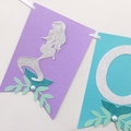 Mermaid ONE Banner. Birthday party, baby shower, first birthday, under the sea.