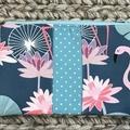 Beautiful flamingos purse