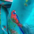 Turquoise Parrot and Pink Waratah Scarf