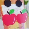 An Apple a Day - Acrylic Dangle Earrings