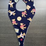 Waterproof Teddy Dribble dummy/teether Bib