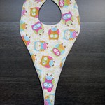 Waterproof Owl Dribble dummy/teether Bib