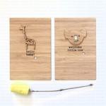 Baby Card New Baby Boy, Girl, Neutral Bamboo Art Decor Koala Giraffe