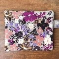 Grey Floral Coin Purse