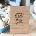 I Love The Little Things You Do, Bamboo Card, Thank You Card Gratitude