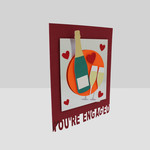 Handmade Celebration Engagement Card | You're Engaged Greeting Card