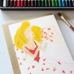 Junior Artist Blank Art Card Love & Kisses