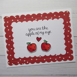You Are The Apple Of My Eye - Valentine's Day Card