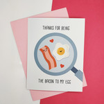 Funny Cute Food Bacon Eggs Valentines Card