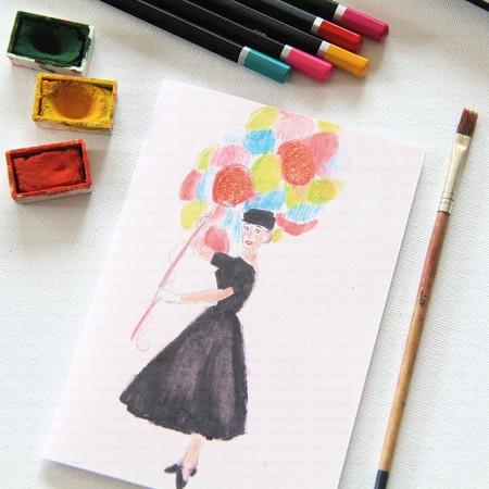 Junior Artist Blank Art Card Audrey in Paris