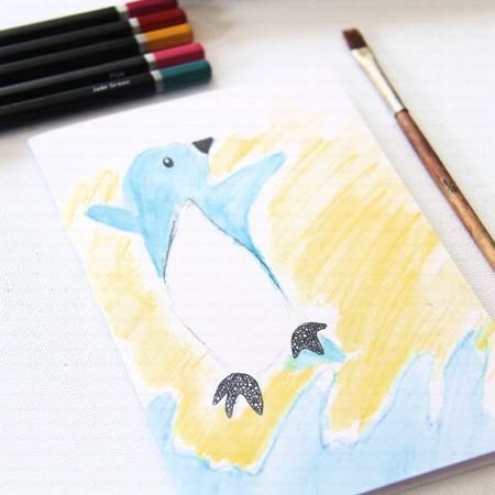 Junior Artist Blank Art Card Skipper the Penguin