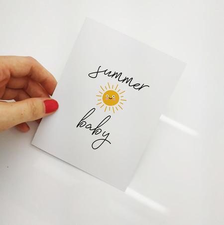 Cute Sunshine Birthday Card | Summer Baby Card