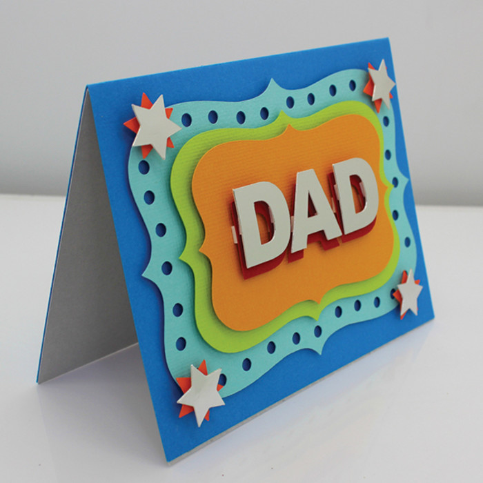 unique handmade card for dad  birthday fathers day get