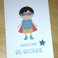 New sibling card - Awesome Big Brother or Sister