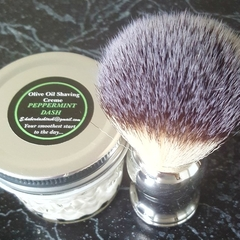 Peppermint Dash Olive Oil Shave Creme & Brush