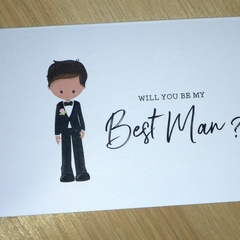 Wedding Bridal Party cards - Best Man - Groomsman - Page boy