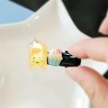 Girl & Cupcake Hair Clip - Illustrated Kawaii Accessories