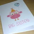 Big Sister - new sibling card