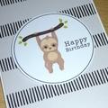 Happy Birthday card - sloth