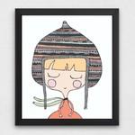 Hooded Girl Art Printable